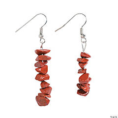 Red Stone Earrings Craft Kit