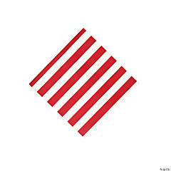 Red Striped Beverage Napkins