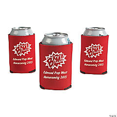 Red Superhero Personalized Can Coolers