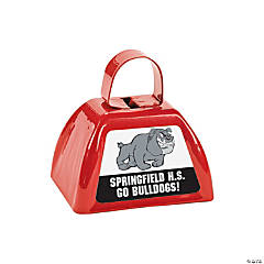 Red Team Spirit Custom Photo Cowbells