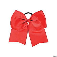 Red Team Spirit Hair Bow