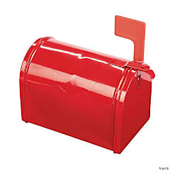 Red Tinplate Mailbox