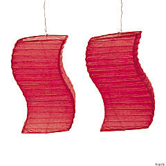 Red Wave Paper Lanterns