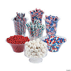 Red, White & Blue Candy Buffet