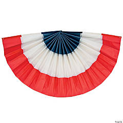 Red, White & Blue Flocked Bunting