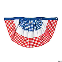 Red, White & Blue Gingham Bunting