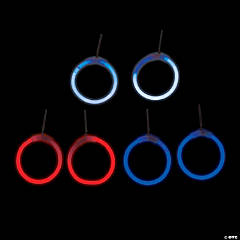 Red, White & Blue Glow Earrings