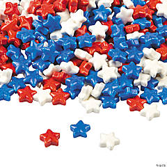 Red, White & Blue Hard Candy Stars