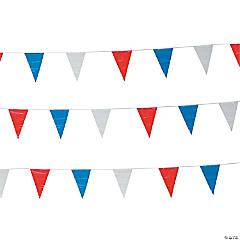 Red, White & Blue Plastic Pennant Banner