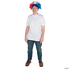 Red, White & Blue Wig Hat