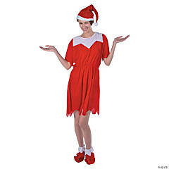 Red/White Elf Costume for Women