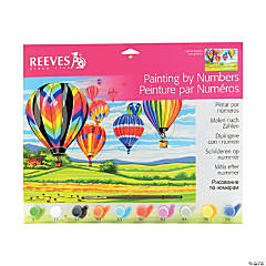 Reeves Painting By Numbers Hot Air Balloons