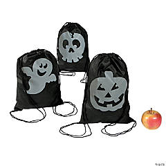 Reflective Halloween Drawstring Backpacks