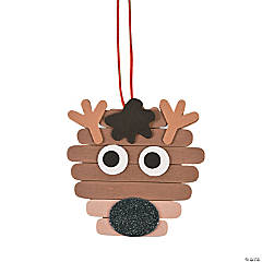 Reindeer Craft Stick Ornament Craft Kit