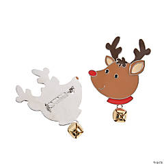 Reindeer Jingle Bell Pins