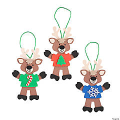 Reindeer with T-Shirt Ornament Craft Kit