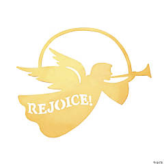 Rejoice Silhouette Angel Christmas Ornaments