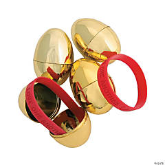 Religious Bracelet-Filled Golden Eggs - 12 Pc.