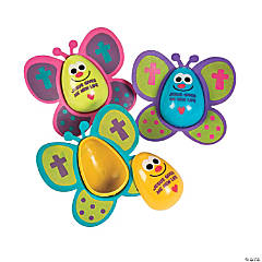 Religious Butterfly Easter Eggs