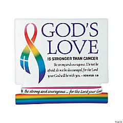 Religious Cancer Awareness Bracelets on Card