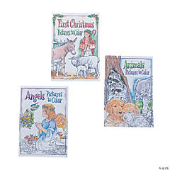 Religious Christmas Mini Coloring Books