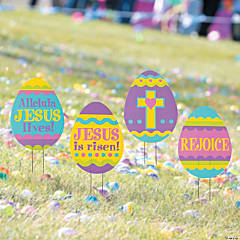 Religious Easter Egg Hunt Yard Signs