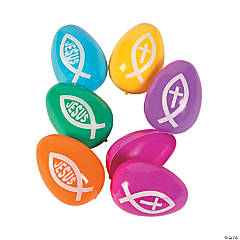 Religious Fish Plastic Easter Eggs- 72 Pc.