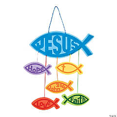 Religious Jesus Fish Mobile Craft Kit