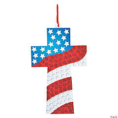 Religious Mosaic Glitter Flag Craft Kit