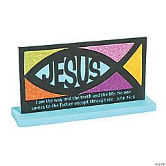 Religious Mosaic Jesus Fish Craft Kit