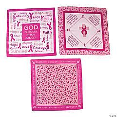 Religious Pink Ribbon Bandanas
