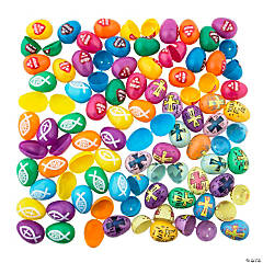 Religious Plastic Easter Egg Assortment
