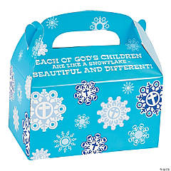 Religious Snowflake Treat Boxes