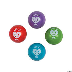 Religious Valentine Bouncy Ball Assortment