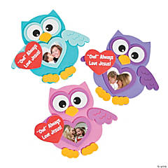 Religious Valentine Owl Picture Frame Magnet Craft Kit
