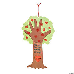Religious Valentine Tree Thumbprint Poem Craft Kit