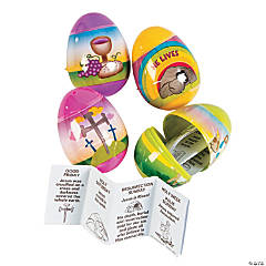 Resurrection Story-Filled Plastic Easter Eggs - 12 Pc.