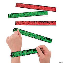 Reversible Sequin Christmas Slap Bracelet