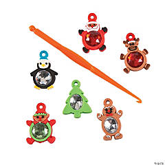 Rhinestone Christmas Charms for Fun Loops