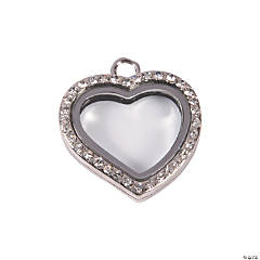 Rhinestone Heart Locket