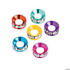Rhinestone Large Hole Spacers