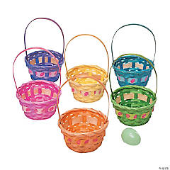 Ribbon-Trimmed Easter Baskets