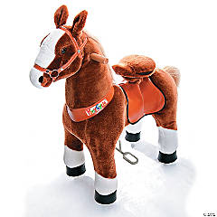 Ride-on Plush Brown & White Horse
