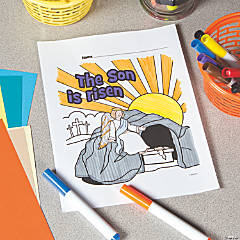 Risen Son Free Printable Coloring Page