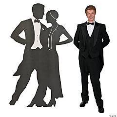 Roaring 20s Silhouette Ballroom Dancers Cardboard Stand-Up