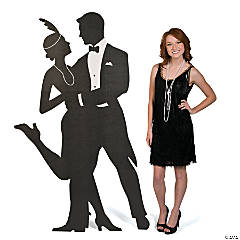 Roaring 20s Silhouette Swing Dancers Cardboard Stand-Up