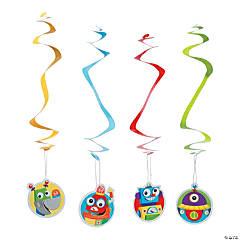 Robot Party Hanging Swirls