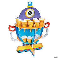 Robot Party Treat Stand with Cones