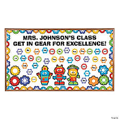 Robots & Gears Bulletin Board Set