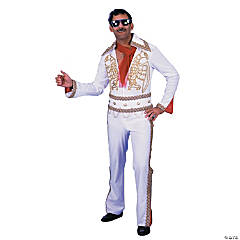 Rock N Roll Jumpsuit White Costume For Men